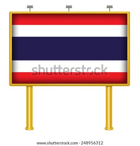 Big Billboard Thailand flag - stock vector