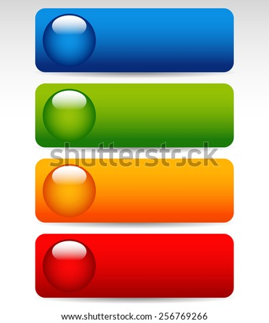Big Bright, Colorful Buttons - stock vector