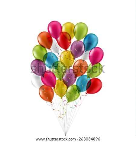 Big Bunch of colorful balloons - eps10 - stock vector