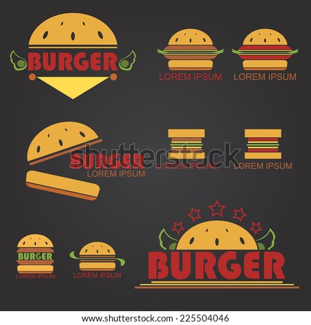 Big Burger - stock vector