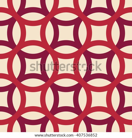 Big circles crossed seamless pattern wine pink - stock vector