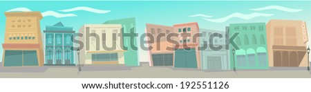 big city, cartoon vector illustration, flat style - stock vector