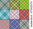 Big collection classical scottish seamless patterns (vector EPS 10) - stock photo