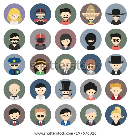 Big collection of people icons. Vector eps10 - stock vector