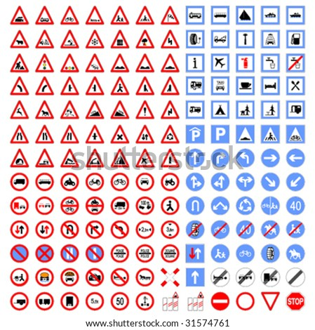 Big collection of Traffic signs