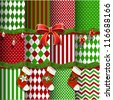Big collection of vector Christmas backgrounds and elements for design - stock vector