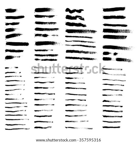 big collecton of grunge brushes - stock vector