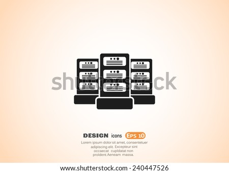 Big data and technology vector icon - stock vector