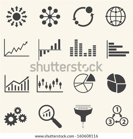 Big Data icon, Business Infographic - stock vector