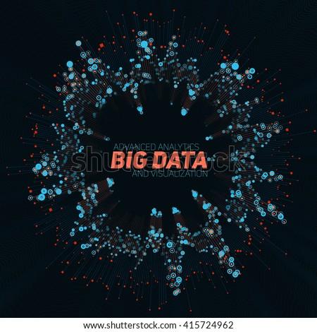 Big data visualization. Futuristic infographic. Information aesthetic design. - stock vector