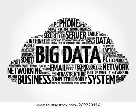 Big Data word cloud concept - stock vector