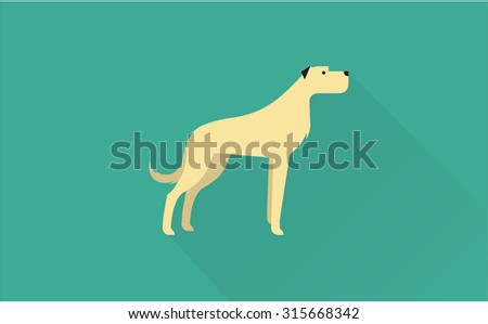 Big dog icon - stock vector