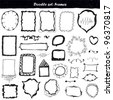 big doodle set - design elements - stock vector