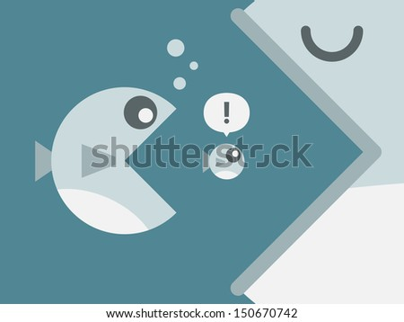 Big fish - stock vector