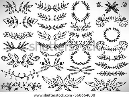 Laurel Wreaths Pattern Design Free