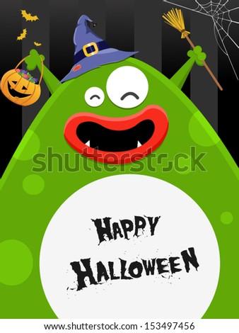 Big Halloween Monster - stock vector