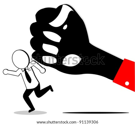 big hands have big power than the small - stock vector