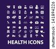 big health, hospital, medical icons, signs set, vector - stock vector