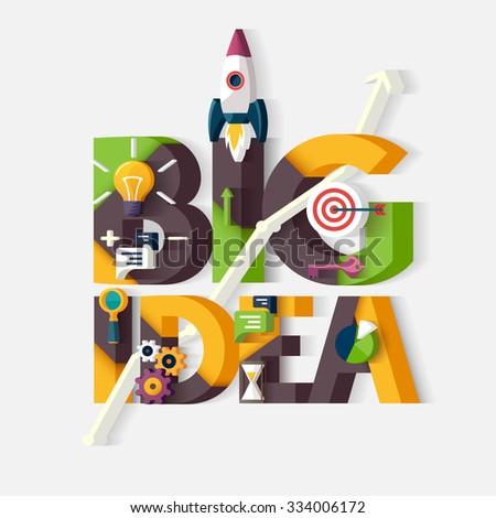 Big Idea concept. Typographic poster. - stock vector