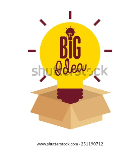 big idea design, vector illustration eps10 graphic  - stock vector