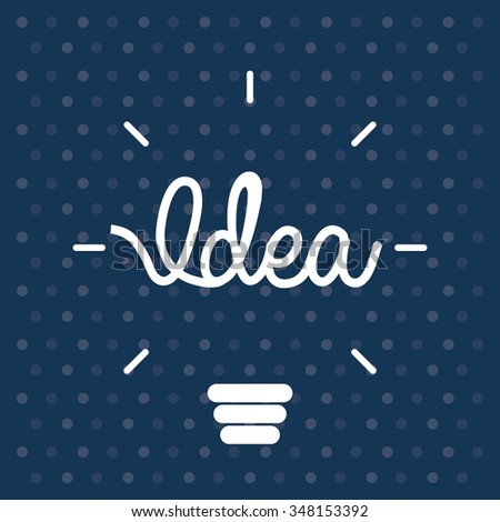 big idea design vector illustration eps10 graphic - Idea Design