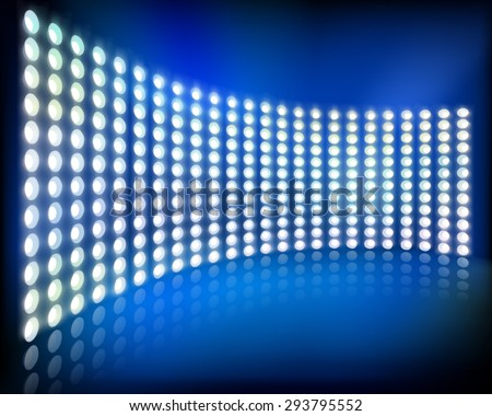 Big led projection screen. Vector illustration. - stock vector