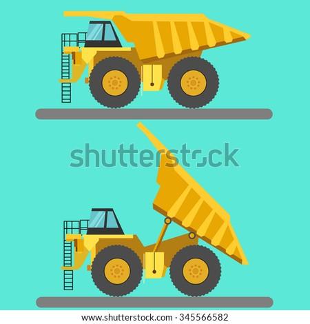 Big mining truck vector illustration - stock vector