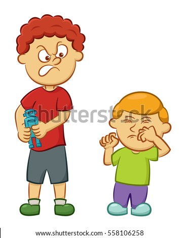 Big Naughty Boy Taking Toy Away Stock Vector (Royalty Free) 558106258 - Shutterstock