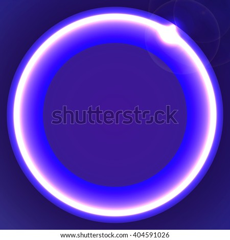 Big neon colorful circle with glow, abstract background design, vector illustration - stock vector