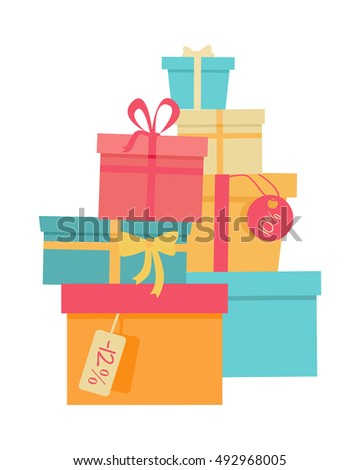 Wrapped christmas gifts clip art free