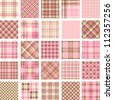 Big plaid pattern set - stock photo