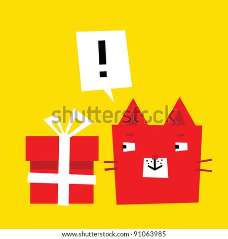 Big present - stock vector