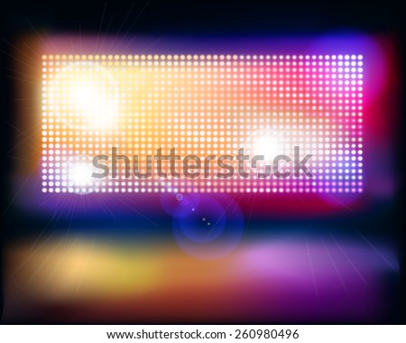 Big projection screen. Vector illustration. - stock vector