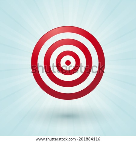 big red bullseye on a blue background