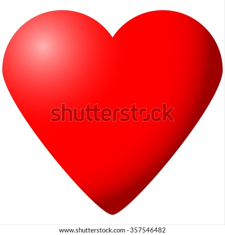 big red heart Valentine's Day isolated on white background vector