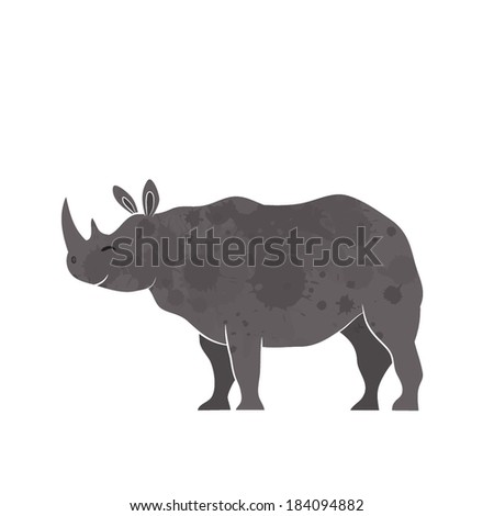 Big rhino vector