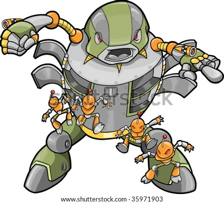 Big Robot Vector Illustration