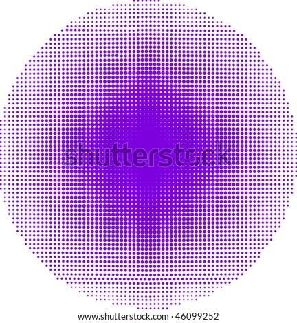 big round halftone, vector illustration - stock vector