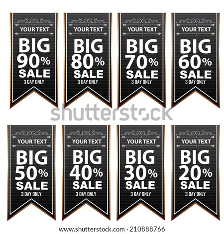 Big Sale Best offer badge, sticker, Banner,label or tag. - stock vector