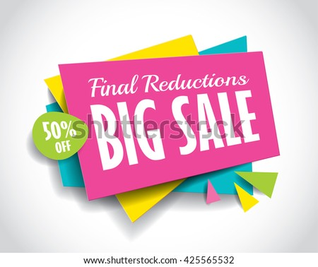 Big Sale concept vector banner. sale layout design. Vector illustration. - stock vector
