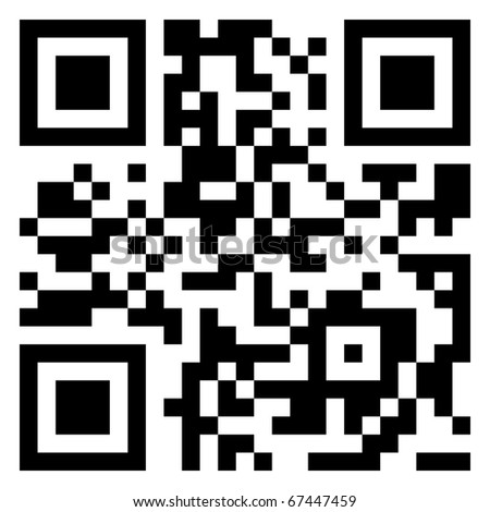 Big Sale data in qr code. (modern bar code). EPS 8 vector file included - stock vector