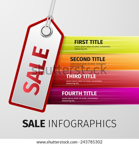 Big Sale on blank tags. Red inscription Big Sale on blank tags on wooden table - stock vector