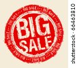 Big sale rubber stamp. - stock photo