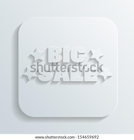 big sale sign vector - stock vector