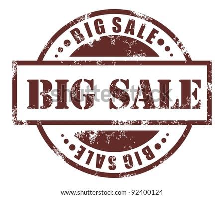 Big sale stamp - stock vector
