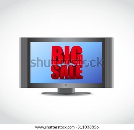 Big sale tv ad business sign illustration design icon graphic - stock vector