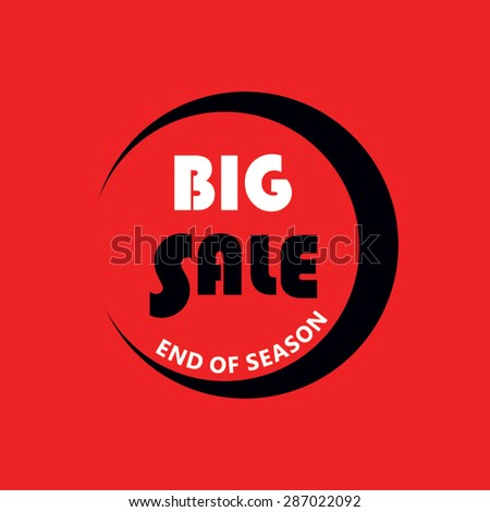 Big Sale vector sticker, label - stock vector