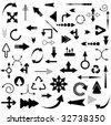 Big Set of Arrows - stock vector