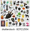 Big set of different cute monsters. Vector icons for your design. - stock vector