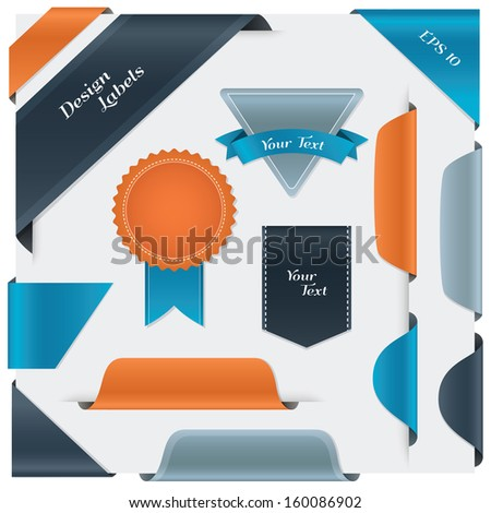 Big set of labels, bookmarks, tags, badge. - stock vector